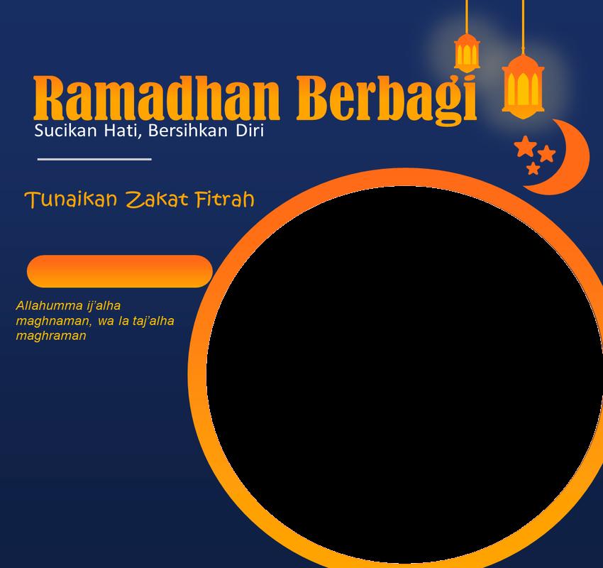 Twibbon Zakat Fitrah dilengkapi Niat dan Doa