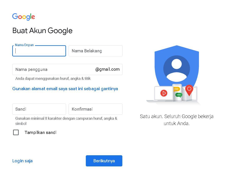Bagaimana cara membuat akun Gmail di komputer?