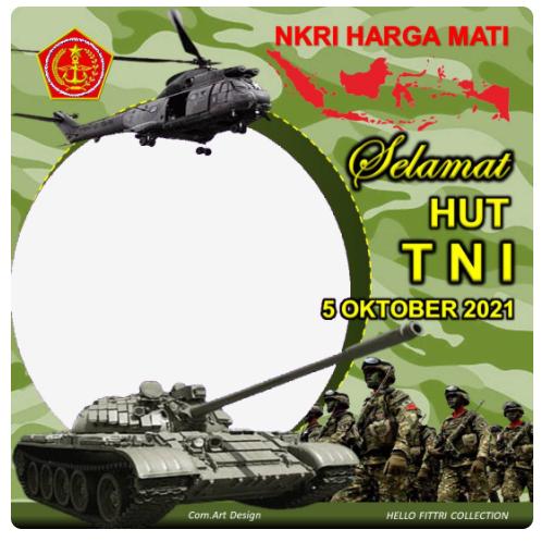 Twibbon HUT TNI KE 76 Tahun 2021