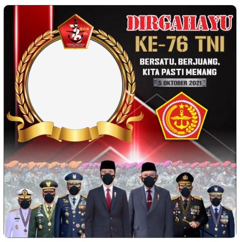 twibbon selamat hari TNI ke 76